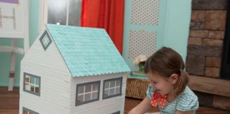 Tự làm đồ chơi Nhà búp bê cho bé gái