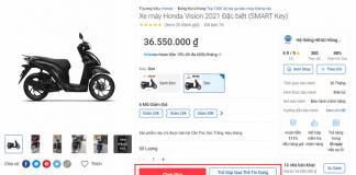 Hướng dẫn mua xe online trên Tiki